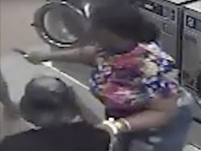 This still shows a suspect in a June 6 knife attack against a transgender woman in Washington, D.C.